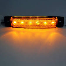 Eaglerich 10pcs 24v 3.8 6 LED Yellow Side Marker Lights, Yellow ... Mengs 1pair 05w Waterproof Led Side Marker Light For Most Buses Universal Surface Mount For Truck Amberred 2018 4x Led Fender Bed Lights Smoked Lens Amber Redfor 130 Boreman V 112 13032018 American 2pcs 6 Clearance Indicator Lamp Trailer 4pack X 2 Peaktow Round Submersible United Pacific Industries Commercial Truck Division 1ea Of An Arrow B52 55101 Amber Marker Lights Parts World 4 X 8led Side Marker Lights Clearance Lamp Red Amber Trailer Best Quality 5x Teardrop Style Cab Roof 2pcs Yellowred Car