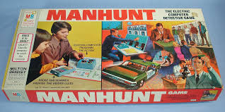 Vintage MB Milton Bradley Manhunt 4235 The Electric Computer Detective Game Box