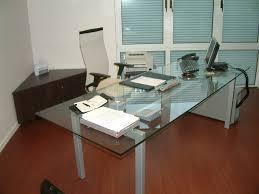 table bureau verre lynium fr mobilier sur mesure lynium metz agencement bureaux