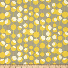 Curtain Fabric By The Yard by Amy Butler Midwest Modern Martini Mustard Discount Designer