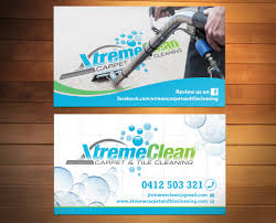 modern personable business card design for xtreme carpet and tile