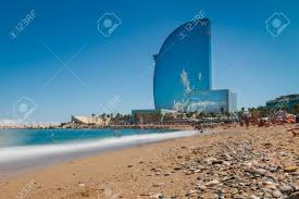 100 W Hotel In Barcelona Spain BARCELONA SPAIN AUGUST 10 2017 Detail Of The