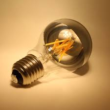 a60 a19 led crown silver light bulb shadowless led filament bulb