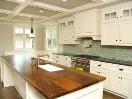 White Country Kitchen With Butcher Block Ideas