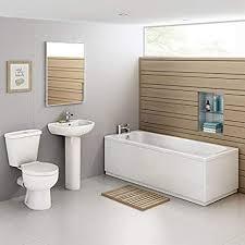 set aus glatter badewanne mit standwaschbecken wc bsp035 garnitur für badezimmer