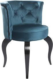 stuhl style blue samt esszimmer polsterstuhl barock