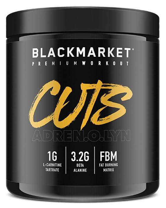 Adrenolyn Cuts - Pre Workout - Fruit Punch - 30 Servings by Blackmarket Labs