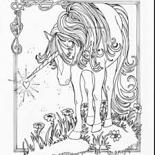 Unicorn Coloring Page Refrence Astonishing Realistic Pages For Adults With
