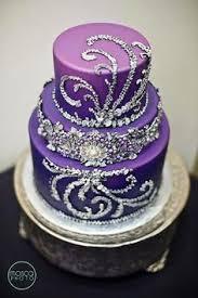 Purple Birthday Cakes Vendor Spotlight Artisan Cake pany Black Cake With Purple Swirls And Silver Ribbon