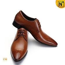 Brown Leather Dress Shoes CW762112 Cwmalls