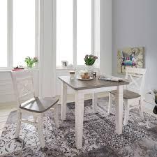 landhaus esszimmermöbel yoan in weiß grau 3 teilig
