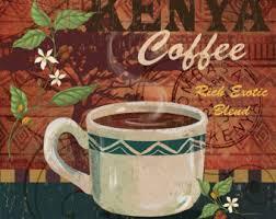 Coffee Kitchen DecorCafe Art Kenya Cafe Wall Decor Tribal
