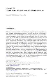 Pelvic Floor Spasms Female by Pelvic Floor Myofascial Pain And Dysfunction Springer