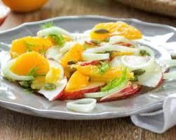 fenouil cuisiner recette de salade bonne mine au fenouil oranges et pommes