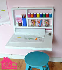 Toddler Art Desk With Storage by Fold Down Art Desk With Storage Craft Paper Roll Holder And A
