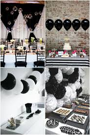 Pink White And Gold Birthday Decorations by Best 25 Black White Parties Ideas On Pinterest Black Party