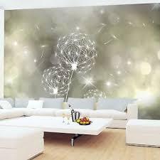 fototapete pusteblumen abstrakt vliestapete gelb wohnzimmer