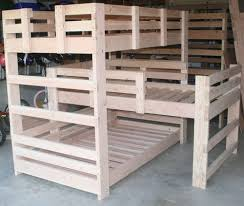 plans for triple bunk beds free home design ideas