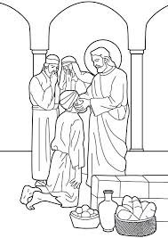 Full Image For Jesus Heals Ten Lepers Coloring Page The Man Born Blind Bible