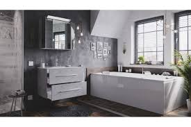 posseik badezimmer set homeline in beton mit led beleuchtung