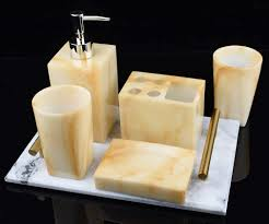 yiyida 5 teilig badezimmer set mit marmor effekt