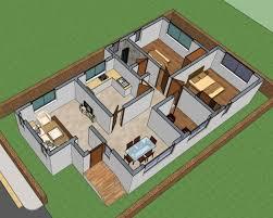 3D Interior View Of House Floor Plan