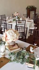 Pretty Vintage Centerpieces Made By One Of Our Brides We Have 10 These And Can Combine With Collection Boxes Books Knickknacks For The
