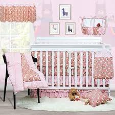 crib bumper pads baby nursery bedding breathable pink 4