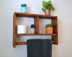 Bathroom Shelf With Towel Bar Wood by Home Decorrustic Towel Shelf Bath Shelf Horseshoe Shelf