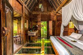 This Room Udang House At The Eco Luxury Resort Bambu Indah In Ubud Sits On A Shrimp Pond And Its Tempered Glass Floor Panels Allow You To Be Conscious Of