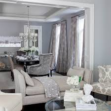 Jennifer Brouwer Design Contemporary Blue And Gray Dining Room With Wall Color
