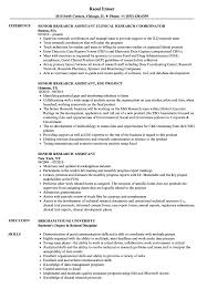Senior Research Assistant Resume Samples | Velvet Jobs Resume For Research Assistant Sample Rumes Interns For Entry Level Clinical Associate Undergraduate Assistant Example Executive Administrative Labatory Technician Free Lab Examples By Real People Market Objective New Teacher Aide No Experience Elegant Luxury Psychology Atclgrain Biology Ixiplay