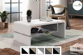 design couchtisch folk weiß beton betonoptik tisch wohnzimmertisch 100x60x40cm mit ablagefläche
