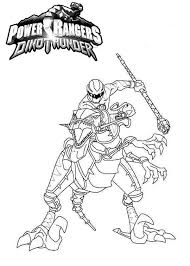 Power Rangers Dinothunder Coloring Page PageFull Size Image