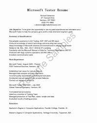 Manual Testing Resume Sample Elegant Performance