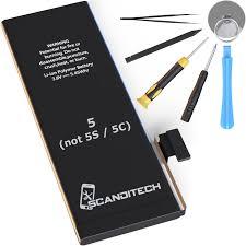 ScandiTech Replacement Battery Model iP5 not 5S or 5C Repair