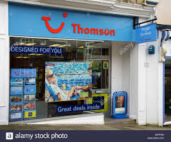 A Thomson Travel Agency In Uk High Street