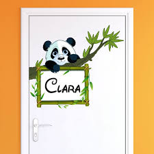 stickers panda chambre bébé sticker prénom personnalisé panda sur sa branche stickers nature