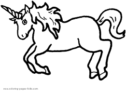 Unicorn Color Page Printable Coloring Pages For