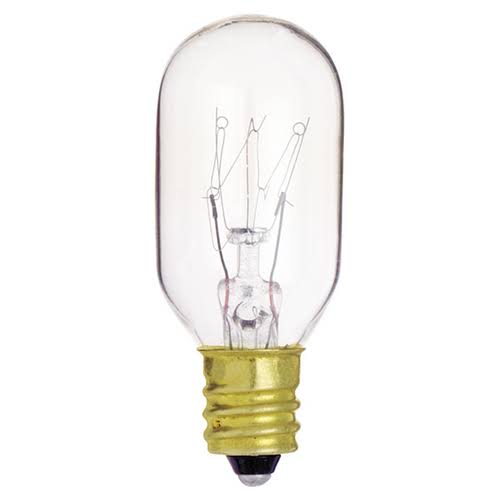 Satco Incandescent Light Bulb - 15W, 130V, T7, Clear, E12, Candelabra Base