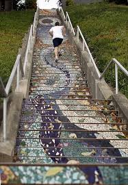16th Avenue Tiled Steps In San Francisco by Bottom To Top Steps A Masterpiece Sfgate