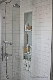 ceramic tile shower shelves
