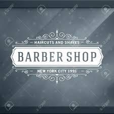 barber shop vintage retro typographic design template royalty free
