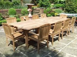 100 Heavy Wood Dining Room Chairs 10 Seater Teak Set Barbuda 10 Seater Double Extending Teak Set