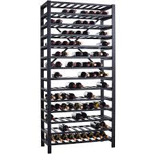 Free Standing Metal Wine Rack 126 Bottle Wine Enthusiast