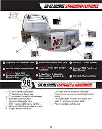 CM Truck Bed, ALSK Model, Aluminum, Cab/Chassis 9'4