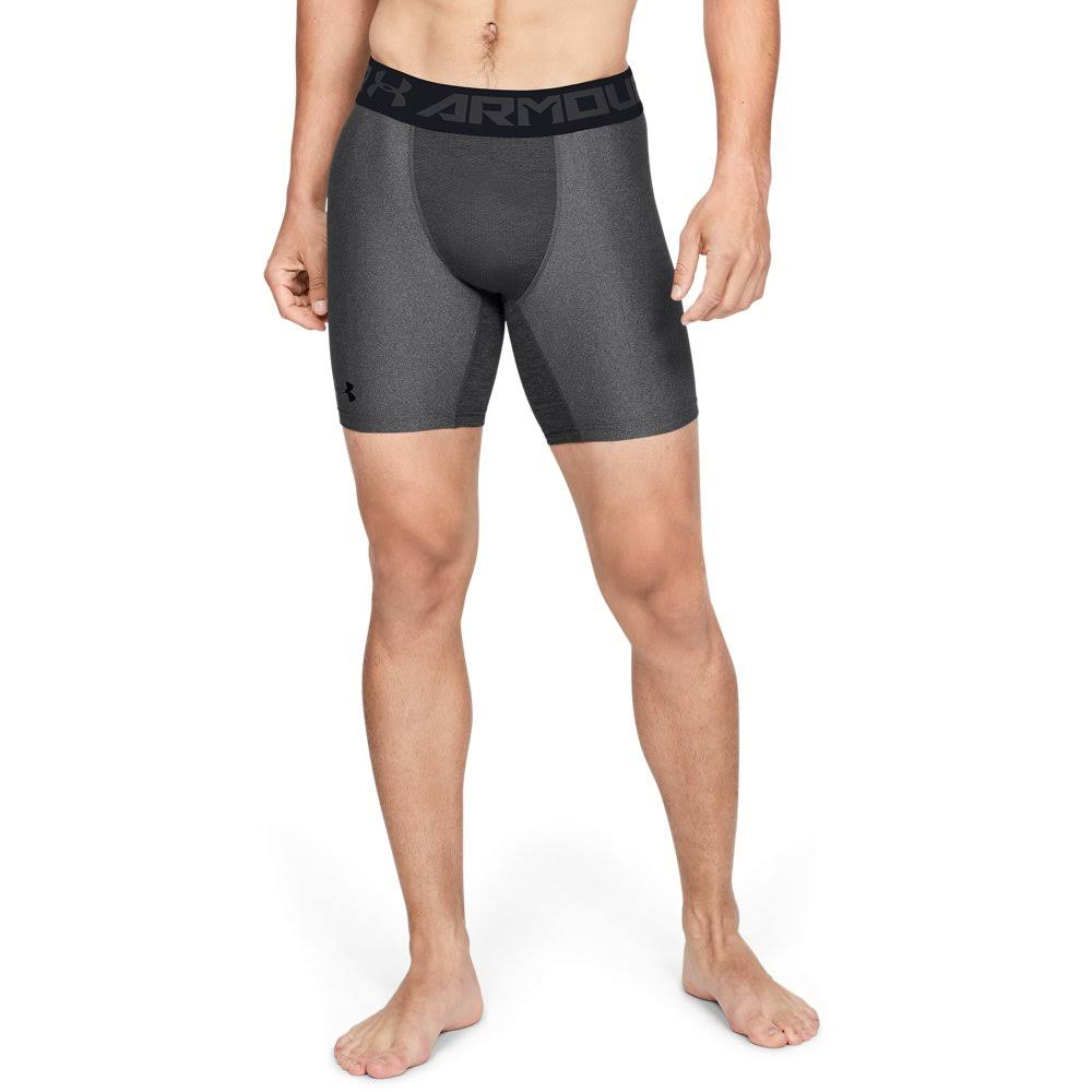 Under Armour Men's Heatgear Mid Compression Shorts - Grey, Large