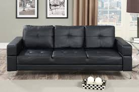 Used Castro Convertible Sofa Bed by Black Faux Leather Adjustable Couch Sofa Bed