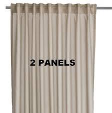 amazon com ikea vivan pair of curtains drapes 2 panels beige
