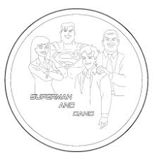 Superman And His Group Redeyeslego Coloring Pages